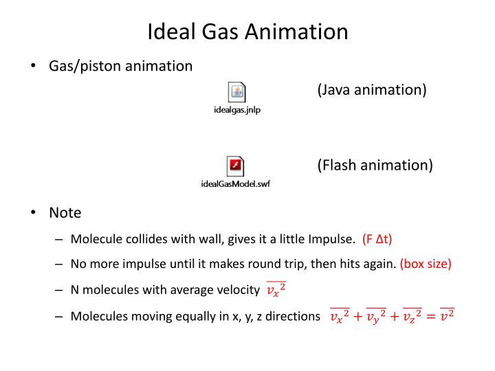 Ideal gas animation