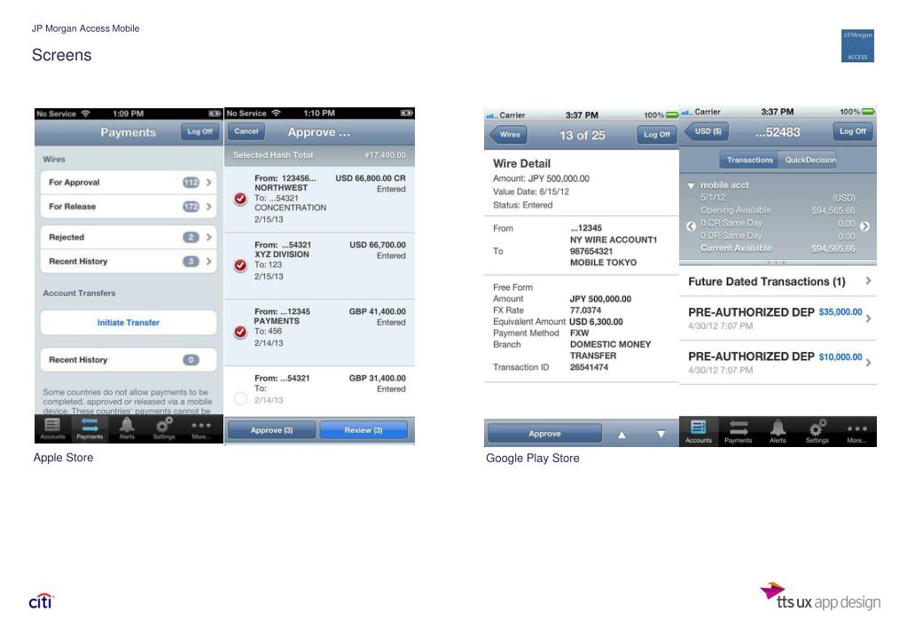 PPT - CitiDirect MOBILE REDESIGN COMPETITIVE BENCHMARKING PowerPoint