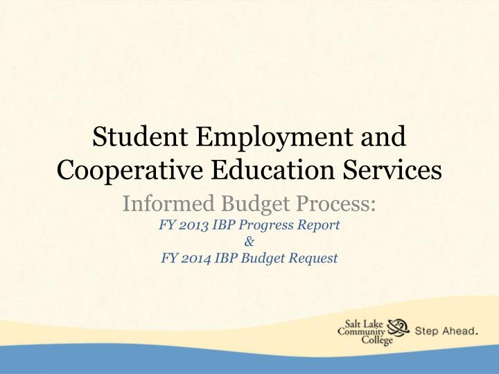 student employment and cooperative education services n.