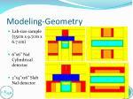 modeling geometry