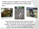 a high number of neglect and cruelty cases are handled by animal services officers each year