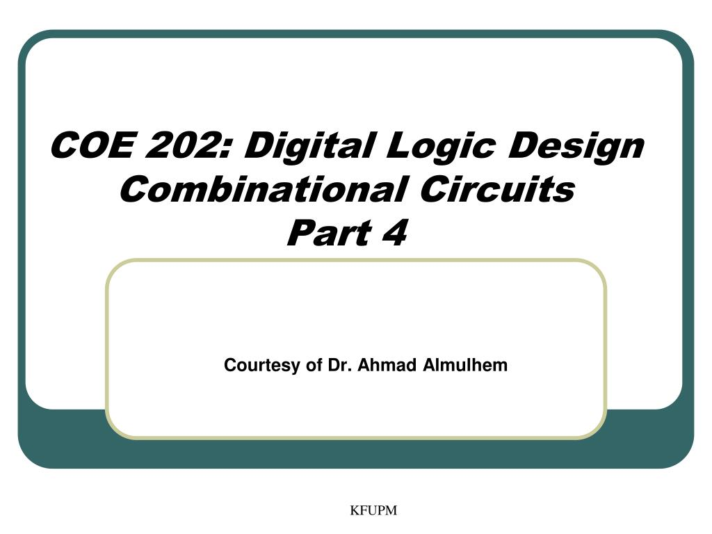 Ppt Coe 202 Digital Logic Design Combinational Circuits Part 4 Schematic For Converting Excess 3 To Bcd N