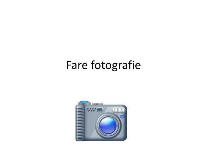 Fare fotografie