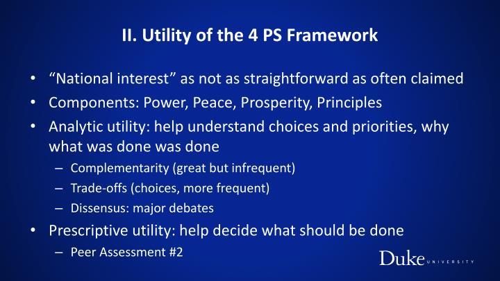 II. Utility of the 4 PS Framework
