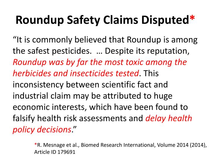 Roundup Safety Claims Disputed