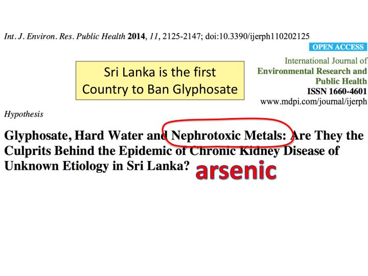 Sri Lanka is the first Country to Ban Glyphosate