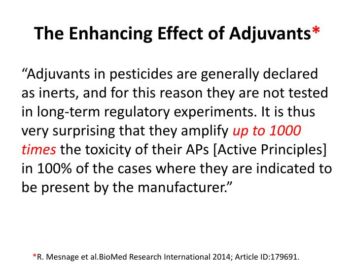 The Enhancing Effect of Adjuvants