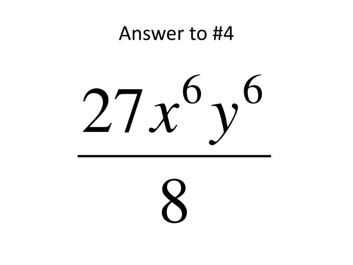 Answer to #4