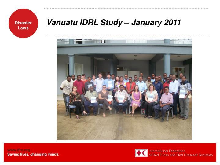 Vanuatu IDRL Study – January 2011