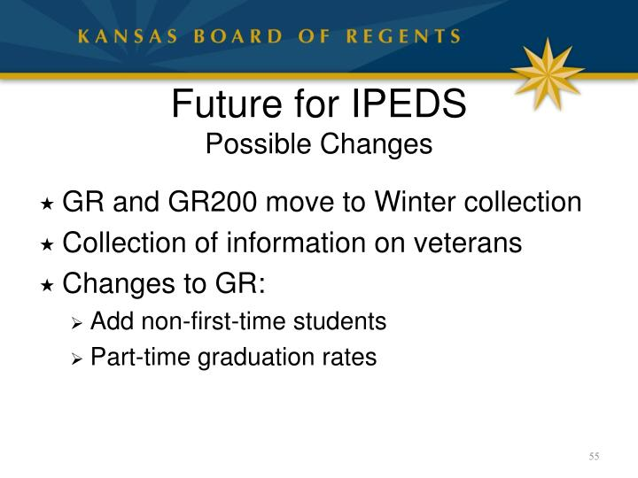 Future for IPEDS