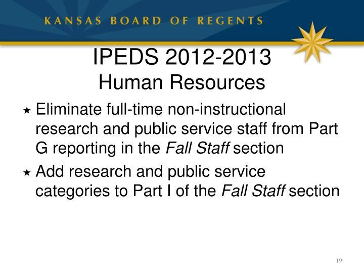 IPEDS 2012-2013