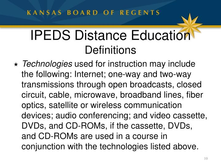 IPEDS Distance Education