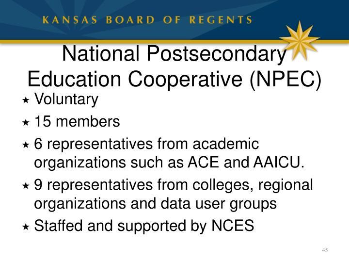 National Postsecondary Education Cooperative (NPEC)