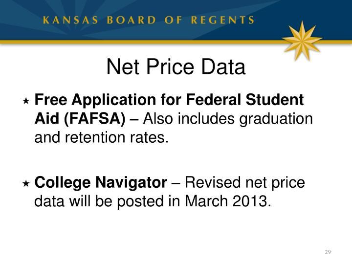 Net Price Data