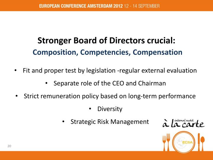 Stronger Board of Directors crucial: