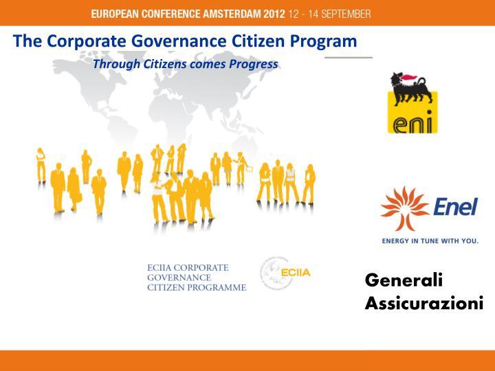 The Corporate Governance Citizen Program