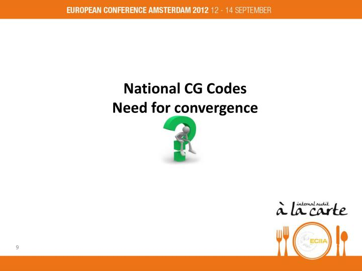 National CG Codes