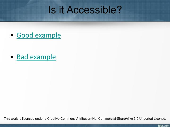 Is it Accessible?