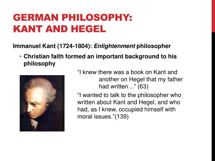 kant and hegel essay Free hegel papers, essays, and research good essays: hegel and kant on the ontological argument - hegel and kant on the ontological argument abstract.