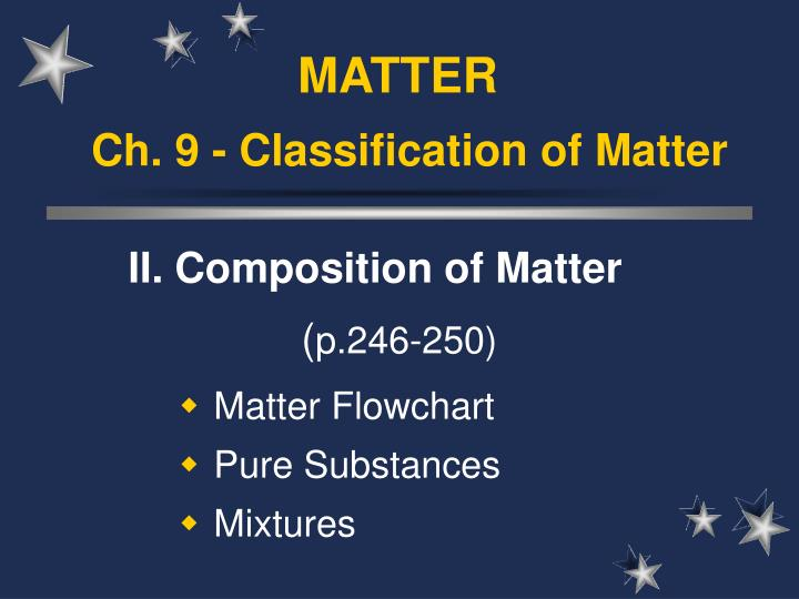 ch 9 classification of matter n.