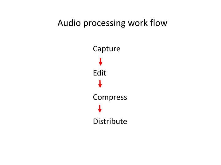 Audio processing work flow