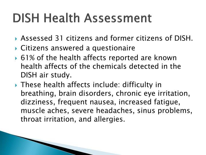 DISH Health Assessment