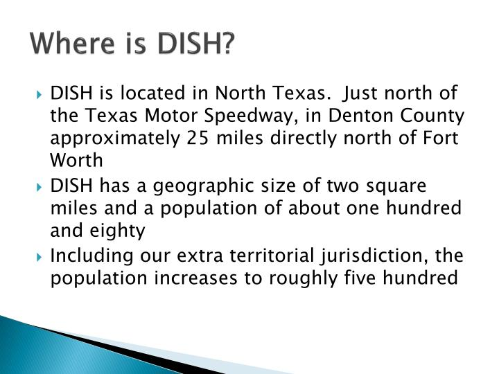 Where is dish