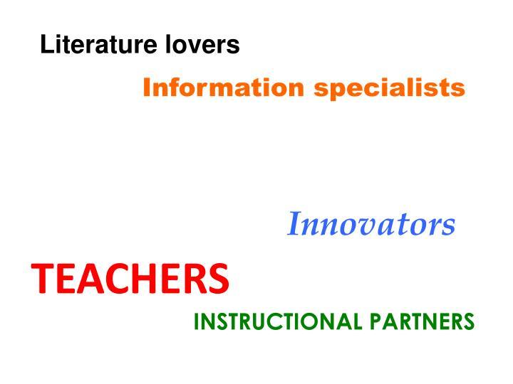 Literature lovers