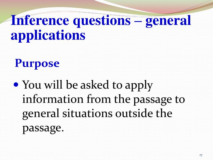PPT - Types of READING COMPREHENSION questions PowerPoint ...