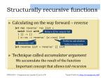 structurally recursive functions1