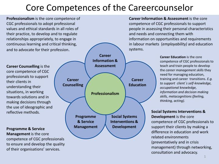 core competences of the careercounselor n.