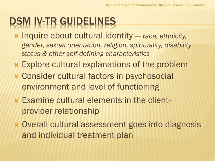 Inquire about cultural identity