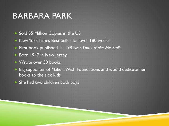 Barbara park1