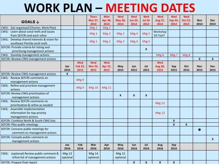 Work Plan –