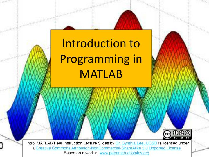introduction to programming in matlab n.
