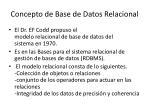concepto de base de datos relacional