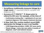 measuring linkage to care