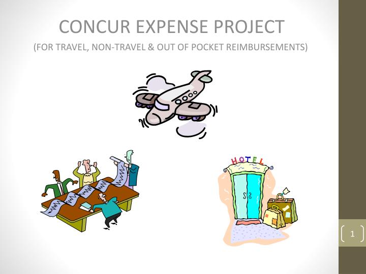 concur expense project for travel non travel out of pocket reimbursements n.