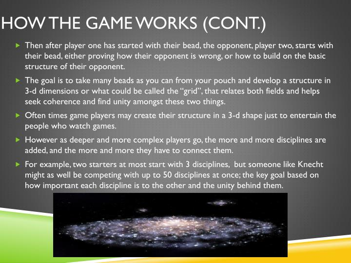 How the game works (Cont.)
