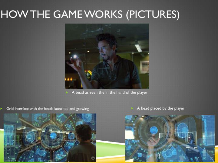 How the game works (Pictures)