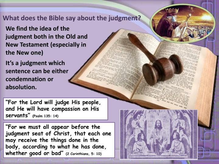 What does the Bible say about the judgment?
