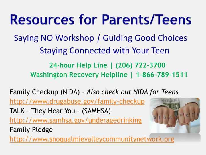 Resources for Parents/Teens