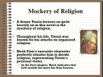 mockery of religion