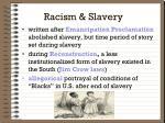 racism slavery