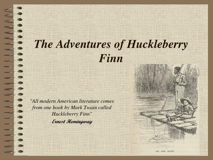 the adventures of huckleberry finn n.