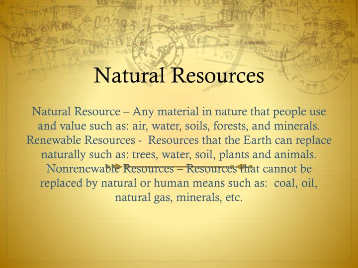 Ppt Natural Resources Powerpoint Presentation Free Download Id 2836287
