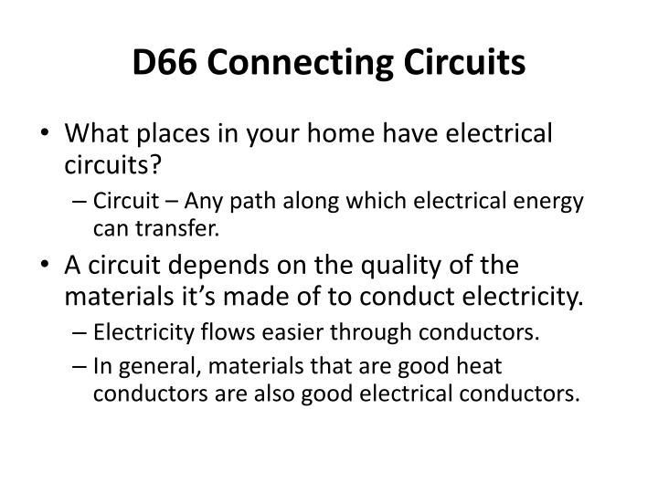 D66 connecting circuits1