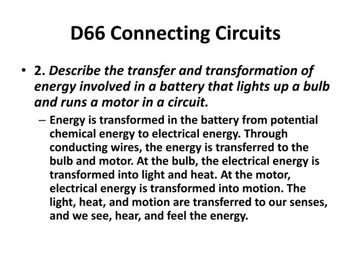 D66 Connecting Circuits