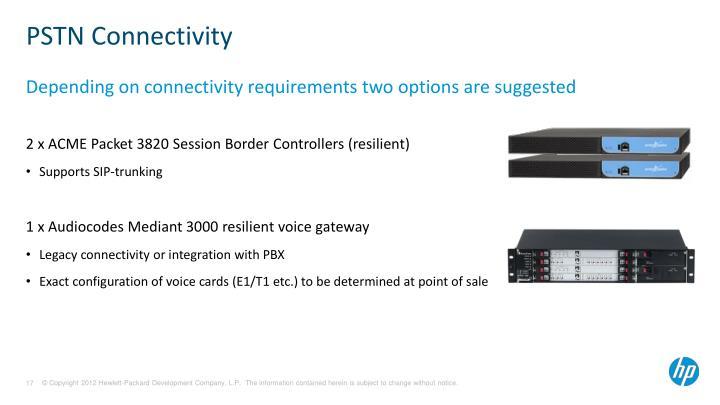 PSTN Connectivity