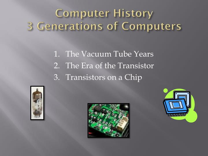 Computer history 3 generations of computers
